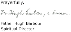 Father Hugh Barbour - Signature-complete